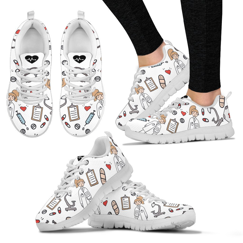 Sketch Medical Women's Nurse/Doctor Sneakers - 3 Colours | White ...