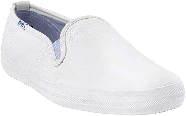 Amazon.com | Keds Women's Champion Leather Slip on Sneaker ...