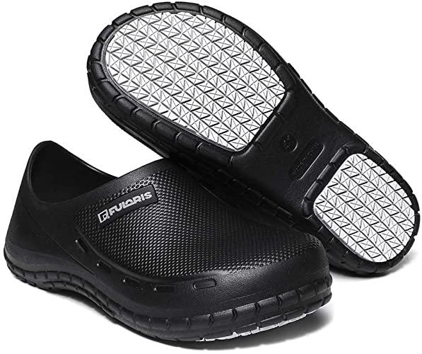 Amazon.com: FULORIS Chef Nurse Shoes Non Slip for Men Black Shoe ...