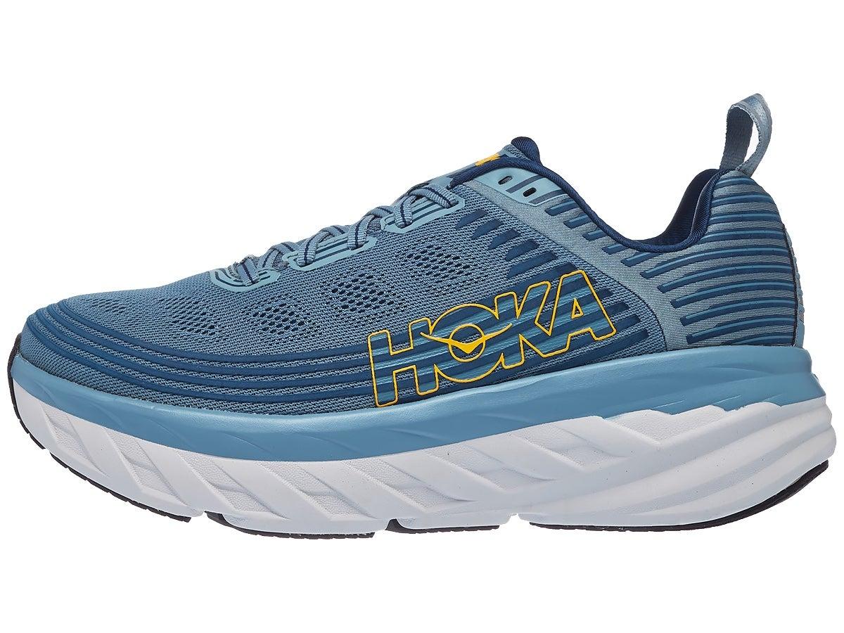 HOKA ONE ONE Bondi 6 Men's Shoes Lead/Majolica Blue