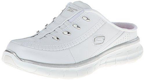Skechers Sport Women's Elite Glam Synergy Slip-On Mule Sneaker ...