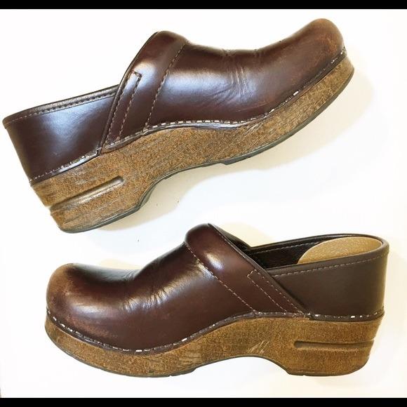 Dansko Shoes | Brown Leather Walking Clog | Poshmark