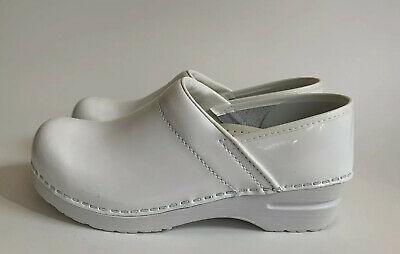 Sanita Professional Celina White Leather Clogs Women's Size US 8.5 ...