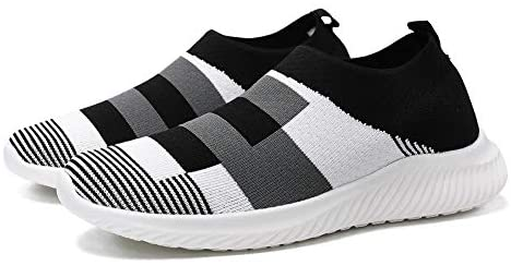 Women's Casual Color Block Walking Shoes Lightweight Breathable Mesh Athletic Running Shoes Fashion Slip-on Sock Sneakers Comfort Work Black: Buy Online at Best Price in UAE - Amazon.ae