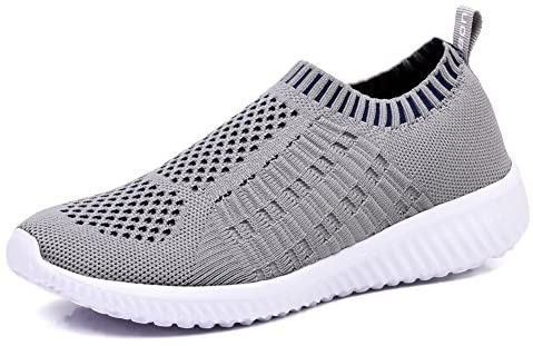 TIOSEBON Women's Athletic Walking Shoes Casual Mesh-Comfortable Work Sneakers 7.5 US Light Gray: Buy Online at Best Price in UAE - Amazon.ae