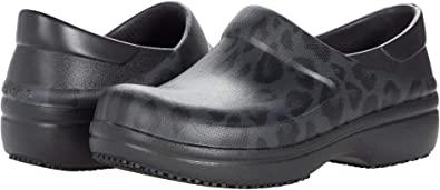 Amazon.com | Crocs Women's Neria Pro II Embellished Clog | Slip Resistant Work Shoes | Mules & Clogs