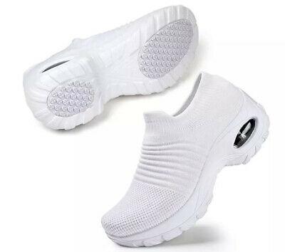 STQ Slip On Breathe Mesh Walking Shoes Women F. Sneakers Comfort Wedge Plat sz10 | eBay