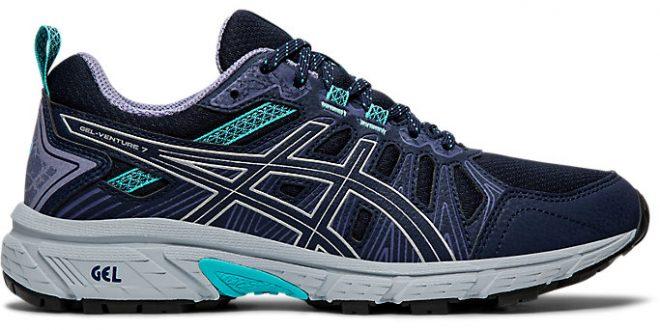 Women's GEL-VENTURE 7   Black/Silver   Running Shoes   ASICS