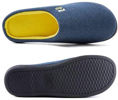 RockDove Men's Original Two-Tone Memory Foam Slipper (9-10 US, Blue/Maize): Buy Online at Best Price in UAE - Amazon.ae