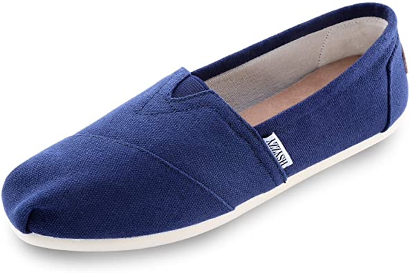 Amazon.com | Women's Canvas Shoes Slip-on Ballet Flats Classic Casual Sneakers Daily Loafers | Loafers & Slip-Ons