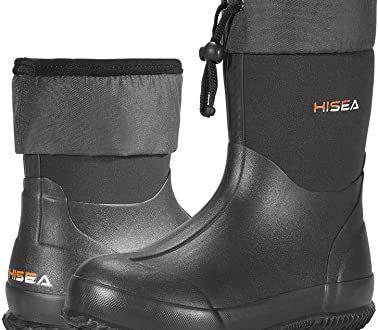 Amazon.com   HISEA Ankle Rain Boots Waterproof Garden Boots Rubber Muck Mud  Boots Outdoor Work Boots for Women Men   Rain