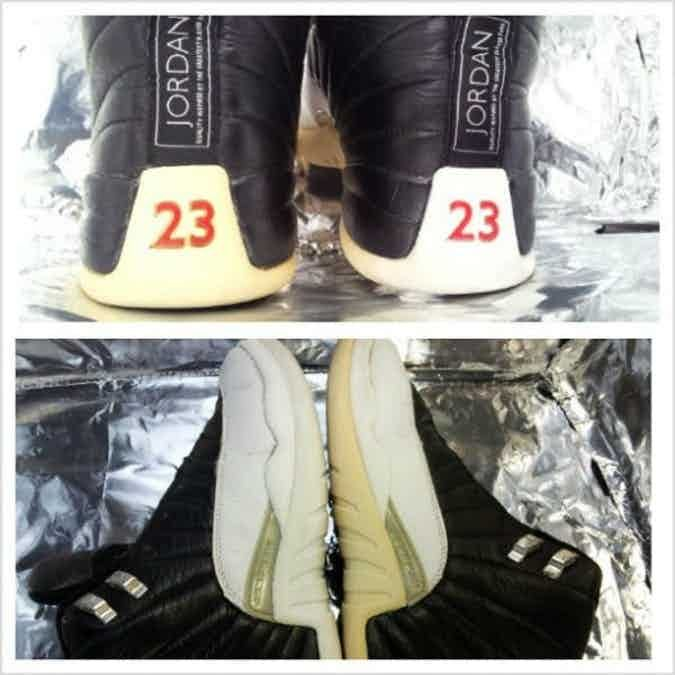 """DIY Sneaker Whitener: How To Clean Yellow Soles With """"Homemade Retrobrite""""- TheShoeGame.com   Yellow sneakers, White jordan shoes, How to clean white shoes"""