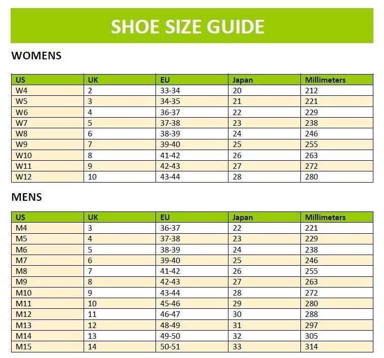 Fit & Size Guides – Crocs New Zealand