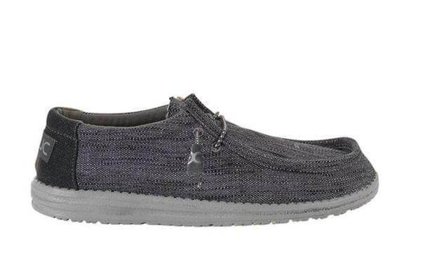 Hey Dude Shoes Men's Wally Woven Shoes in Carbon   110394300 – Glik's