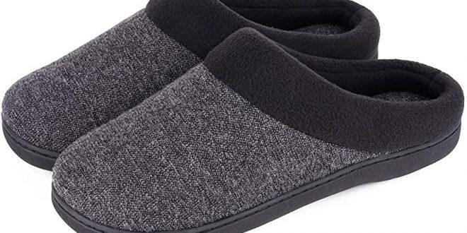 HomeIdeas Woolen Fabric Men's Slippers