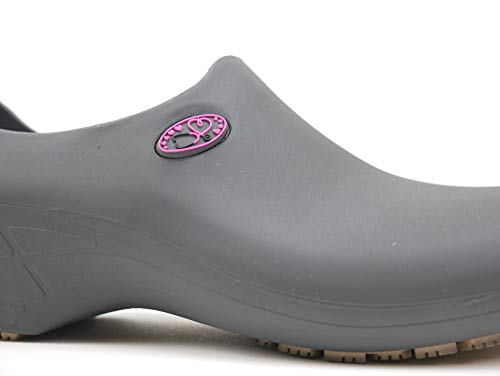 Sticky Shoes - Women's Cute Nursing Shoes - Waterproof Slip-Resistant - Keep Nursing (8, Gray/Pink Stetho) - Home Sports Fitness