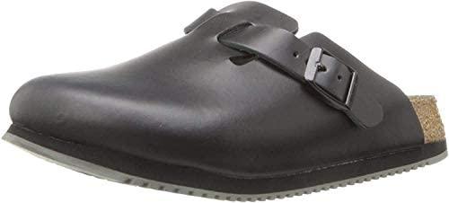Birkenstock Unisex Professional Boston Super Grip Leather Slip Resistant Work Shoe, Black, 38 N EU: Buy Online at Best Price in UAE - Amazon.ae