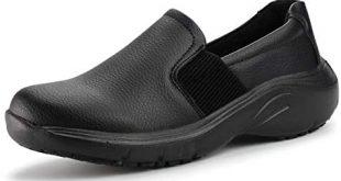 Hawkwell Women's Lightweight Comfort Slip Resistant Nursing Shoes, Black  PU, 5 M US: Buy Online at Best Price in UAE - Amazon.ae
