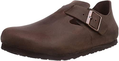 Birkenstock London Habana Leather Unisex Adult Clogs: Amazon.co.uk: Shoes & Bags