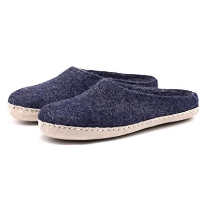 Buy Nootkas Men's Felted Merino Wool 'Astoria' Mule House Slipper Online in Kazakhstan. B085YCM7FP
