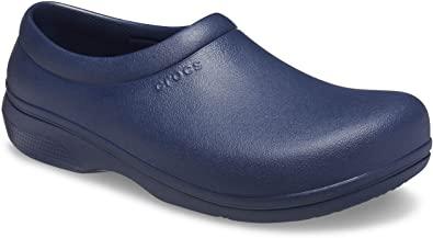 Amazon.com   Crocs Unisex-Adult On The Clock Clog   Slip Resistant Work Shoes   Mules & Clogs
