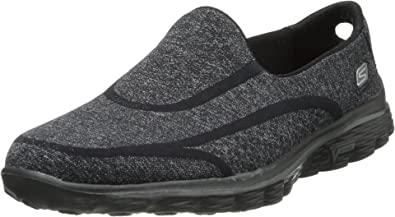 Amazon.com | Skechers Performance Women's Go Walk 2 Super Sock 2 Slip-On Walking Shoe | Walking