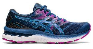 Women's GEL-NIMBUS 23   Grand Shark/Digital Aqua   Running Shoes   ASICS