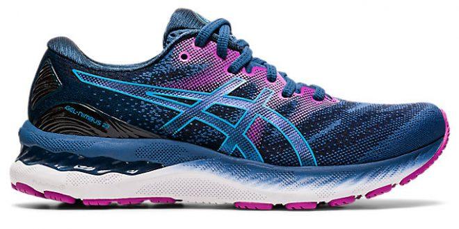 Women's GEL-NIMBUS 23 | Grand Shark/Digital Aqua | Running Shoes | ASICS