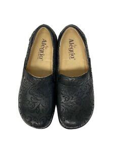 "Womens nursing shoes by Algeria ""Keli"" Black Embossed (Size: 37 | USA 7/7.5) | eBay"