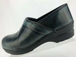 Sanita Danish Nursing Clogs Black Green Professional Shoes Womens 41 10.5/11 | eBay