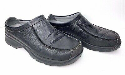 Size 9M Clarks Women's 34390 Black Leather Slip On Dress Shoes Nursing Clogs | eBay