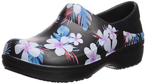 Crocs womens Women's Neria Pro Ii | Slip-resistant Work and Nursing Shoe Clog, Tropical Floral/Black, 7 US- Buy Online in Macau at macau.desertcart.com. ProductId : 106979554.