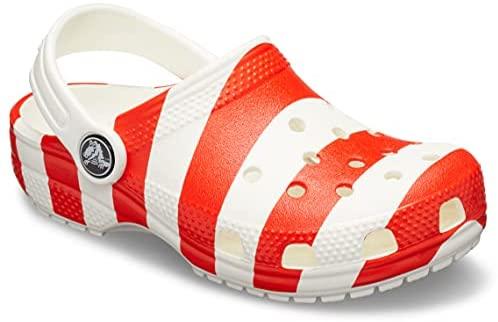 Crocs Kids' Classic American Flag Clog, White/Multi, 2 M US Little Kid :  Amazon.sg: Fashion