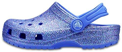 Crocs Kids' Classic Glitter Clog | Glitter Shoes for Girls | Slip On Shoes, Lapis, 10 US Toddler: Amazon.sg: Fashion